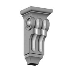 Corinthian Corbels and Bar Brackets-16-00.JPG Télécharger fichier 3MF Modèle d'impression 3D de la corbeille et du support corinthiens • Modèle à imprimer en 3D, RachidSW