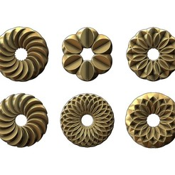 Rose-pattern1-00.JPG Download STL file 3d Geometrical pattern rosettes N01 3D print model • 3D printing model, RachidSW