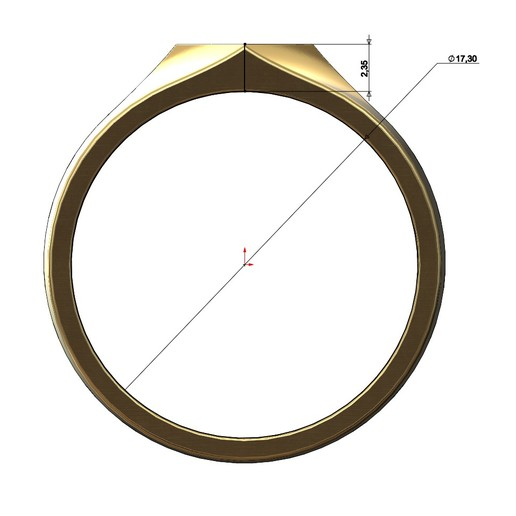 SQUARE-SIGNET-06.JPG Download 3MF file Simple quadrangle flat top signet ring 3D print model • 3D printable model, RachidSW