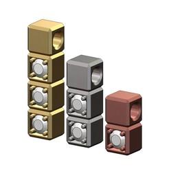 cube-bar-pendants-2-5mm-stones-00.JPG Télécharger fichier 3MF Pendentif et breloque en forme de cube, modèle imprimé en 3D • Design pour imprimante 3D, RachidSW
