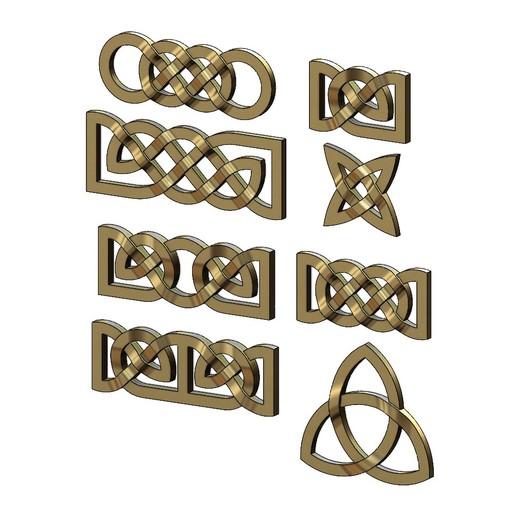 Télécharger fichier STL Collection d'ornements de base pour les nœuds celtiques Modèle d'impression 3D, RachidSW