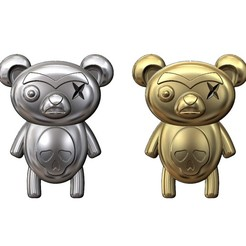 evil-bear-pendant-00.JPG Download 3MF file Evil panda bear pendant and charm 3D print model • 3D printable model, RachidSW