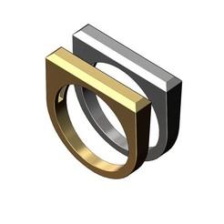 Chamfred-Flat-top-recta-signet-ring-00.JPG Télécharger fichier 3MF Bague rectangulaire chanfreinée à sommet plat modèle d'impression 3d • Plan pour imprimante 3D, RachidSW
