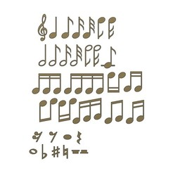 M-NOTES-00.JPG Download 3MF file Musical notes symbols characters 3D print model • 3D printer model, RachidSW