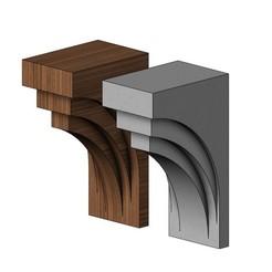 corbel8-00.JPG Télécharger fichier 3MF Modèle d'impression 3D d'un corbeau de designer moderne • Plan imprimable en 3D, RachidSW
