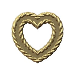 BRAIDED-HEART-00.JPG Download 3MF file Wire Heart pendant and charm plus ornaments 3D print model • 3D printer template, RachidSW