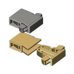 Clasp-v2-00.JPG Download 3MF file Simple flexure bracelet and chain clasp 3D print model • Design to 3D print, RachidSW