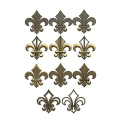 Assem1.JPG Download STL file Royal lily Lis flower Fleur de lys variations ornaments 3D print model • 3D print object, RachidSW