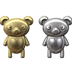 bear-panda-pendant-00.JPG Download 3MF file Cute panda bear pendant and charm 3D print model • Model to 3D print, RachidSW