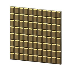 3D-P4-00.JPG Download 3MF file Chocolat rectangular pattern 3d panel 3D print model • 3D printable model, RachidSW