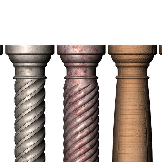 columns-mini-03.JPG Download 3MF file Miniature model making columns 3D print model • 3D printable design, RachidSW