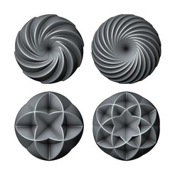 Rose-pattern3-00.JPG Download STL file 3d Geometrical pattern rosettes N03 3D print model • Model to 3D print, RachidSW