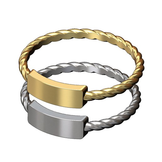 twisted-wire-name-tag-ring-01.JPG Download 3MF file Twisted wire Name Tag Engravable ring 3D print model • 3D printer object, RachidSW