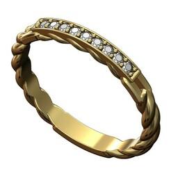 Diamond-rope-band-size7-00.JPG Télécharger fichier 3MF Modèle d'impression 3D d'un anneau de diamant en fil de fer tressé • Design pour imprimante 3D, RachidSW