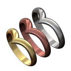 V-chevron-crown-ring-00.JPG Download 3MF file V crown chevron band 3D print model • 3D printable object, RachidSW