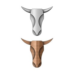 BULL-head-sculp-00.JPG Download 3MF file Minimalist Bull head relief for plaster and woodworking 3D print model • 3D printer template, RachidSW