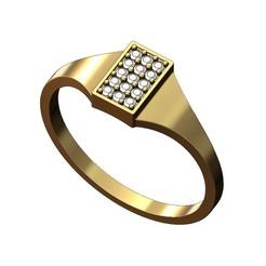 Rectangular-Diamond- signet ring-00.JPG Télécharger fichier 3MF Modèle d'impression 3D de la chevalière rectangulaire en diamant • Modèle imprimable en 3D, RachidSW