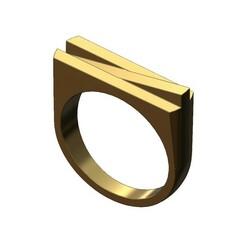 Overlapping-prisms-signet-00.JPG Download 3MF file Overlapping bars signet ring 3D print model • 3D printing model, RachidSW