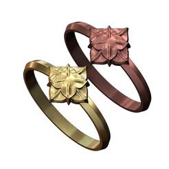 4 Leaf Cruciform Corola Rosette RING-000.JPG Télécharger fichier 3MF Modèle d'impression 3D de l'anneau de rosette de fleurs de Corola à 4 feuilles • Objet pour imprimante 3D, RachidSW
