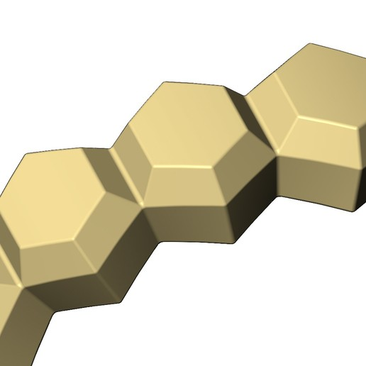 Hex-faceted-band-07.JPG Download 3MF file Hexagonal Faceted norrow band 3D print model • Model to 3D print, RachidSW