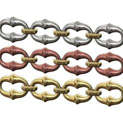 Organic-bone-chain-link-00.JPG Télécharger fichier 3MF Modèle d'impression 3D d'un maillon de chaîne osseuse organique • Objet pour impression 3D, RachidSW