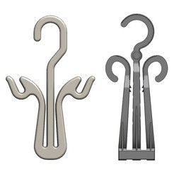 Download 3D printer designs Plastic hook hangers 3d models for packing socks and packaging., RachidSW