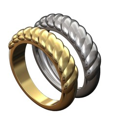 croissant-pattern-ring-00.JPG Download 3MF file Croissant pattern dome ring 3D print model • 3D printer design, RachidSW