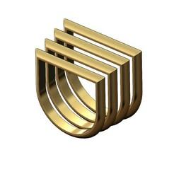 Bar-ring-00.JPG Télécharger fichier 3MF Modèle d'impression 3D d'un anneau à barres arrondies • Design imprimable en 3D, RachidSW
