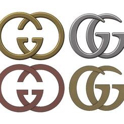 GG-00.JPG Download 3MF file Gucci GG logo replica 3D print model • Object to 3D print, RachidSW