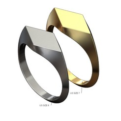 Lozenge-signet-ring-00.JPG Download 3MF file Lozenge Signet Ring 3D print model • 3D printing design, RachidSW