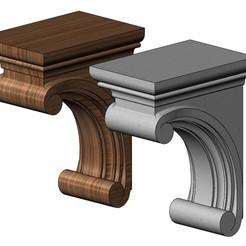 Download 3D printer designs Simple Madeline Corbel 3D print model, RachidSW