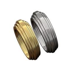 chunky stepped ring v0-00.JPG Télécharger fichier 3MF Modèle d'impression 3D de la bague à gradins • Objet pour impression 3D, RachidSW