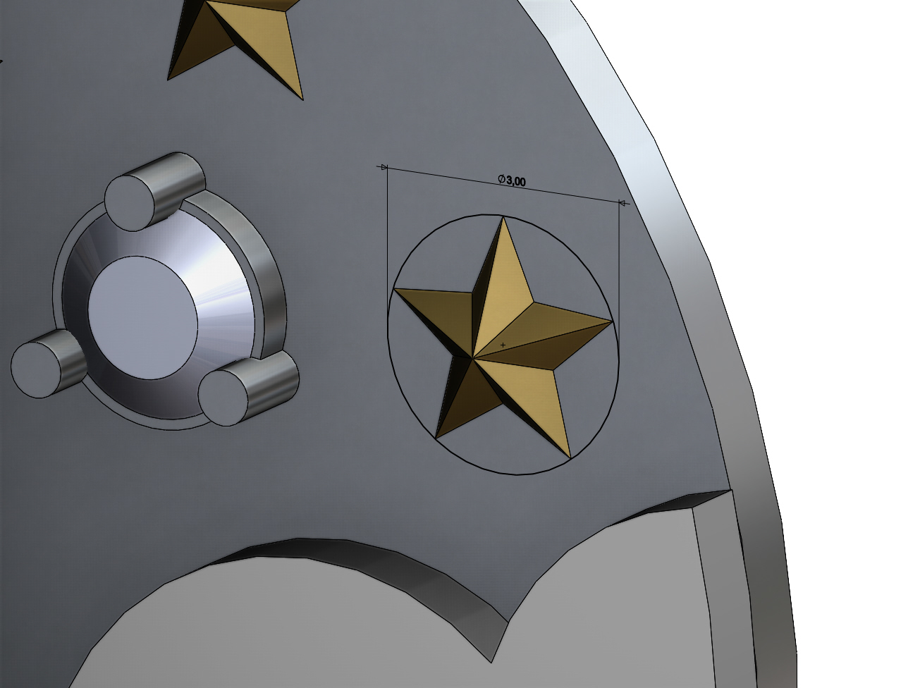 NIGHT-SKY-PENDANT-07.JPG Download 3MF file Night sky with stars pendant 3D print model • 3D print design, RachidSW