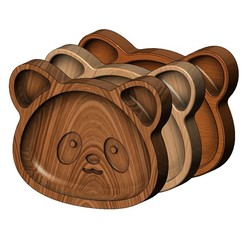 B4-panda-00.JPG Download 3MF file Panda wooden bowl 3D print model • 3D printing object, RachidSW