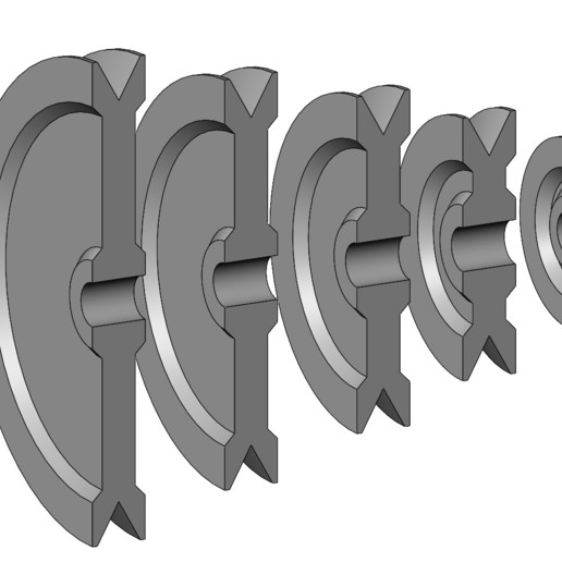 V-Pulleys-06.JPG Download 3MF file Mini Metric V Pulley Set 3D print model • Object to 3D print, RachidSW
