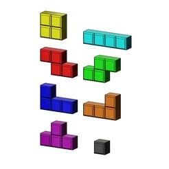 Télécharger fichier imprimante 3D Tetrise bloque les modèles d'impression en 3D, RachidSW