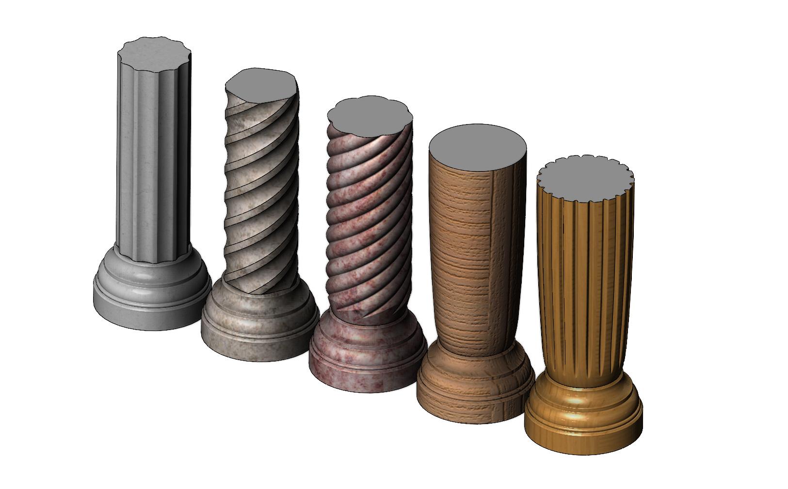 columns-mini-02.JPG Download 3MF file Miniature model making columns 3D print model • 3D printable design, RachidSW