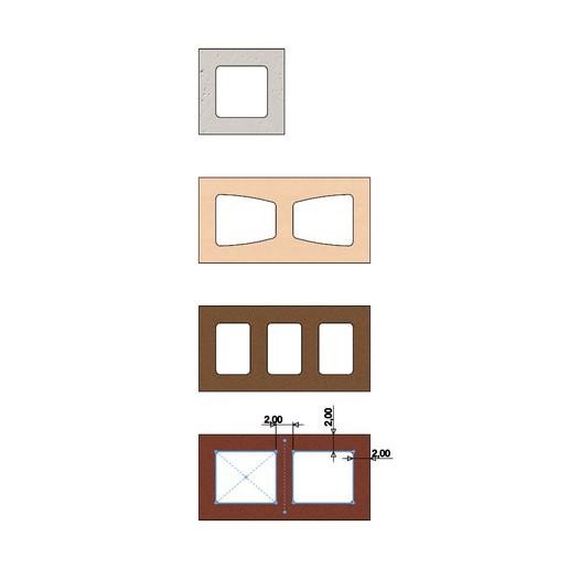 cinder-blocks-05.JPG Télécharger fichier 3MF gratuit Maquette de blocs de cendres miniatures accessoires modèle d'impression 3D • Plan à imprimer en 3D, RachidSW