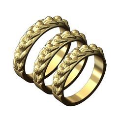 Keeper-ring-v0-00.JPG Télécharger fichier 3MF Modèle d'impression 3D d'une bague de mariage à une rangée • Modèle pour imprimante 3D, RachidSW