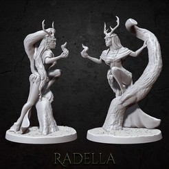 radella_insta.jpg Download STL file Radella • 3D printable template, BellaNachtMiniatures