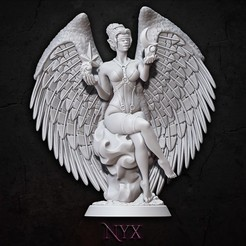 Nyx.jpg Download STL file Nyx • Object to 3D print, BellaNachtMiniatures