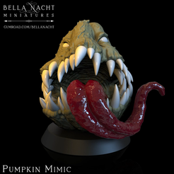 Screen Shot 2020-12-11 at 10.25.16 PM.png Download STL file Pumpkin Monster • 3D printer object, BellaNachtMiniatures