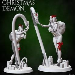 ChristmasDemonG.jpg Download STL file Christmas Demon  • 3D print design, BellaNachtMiniatures