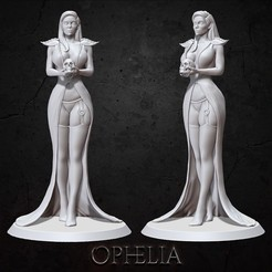 Download free 3D printing templates Ophelia , BellaNachtMiniatures