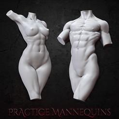 squareproductimage copy.jpg Télécharger fichier STL gratuit Mannequins d'entraînement • Objet pour impression 3D, BellaNachtMiniatures