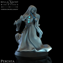 Screen Shot 2020-12-11 at 10.53.23 PM.png Download STL file Perchta - Christmas Witch - PRE SUPPORTED  • Object to 3D print, BellaNachtMiniatures