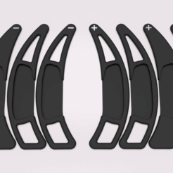 Paddles.png Download STL file Shift paddle extensions for Smart Fortwo 451 & 453 • 3D printable model, buzzz57