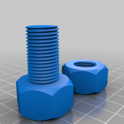 nuts_and_bolt_v1.png Download free STL file nuts and bolt • 3D printing model, blin