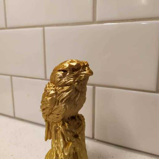 Download 3D printing templates Tawny Frogmouth , LabradoriteWolf