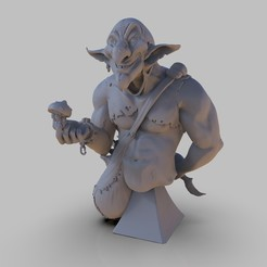 Download free STL files Goblin bust, Microsand